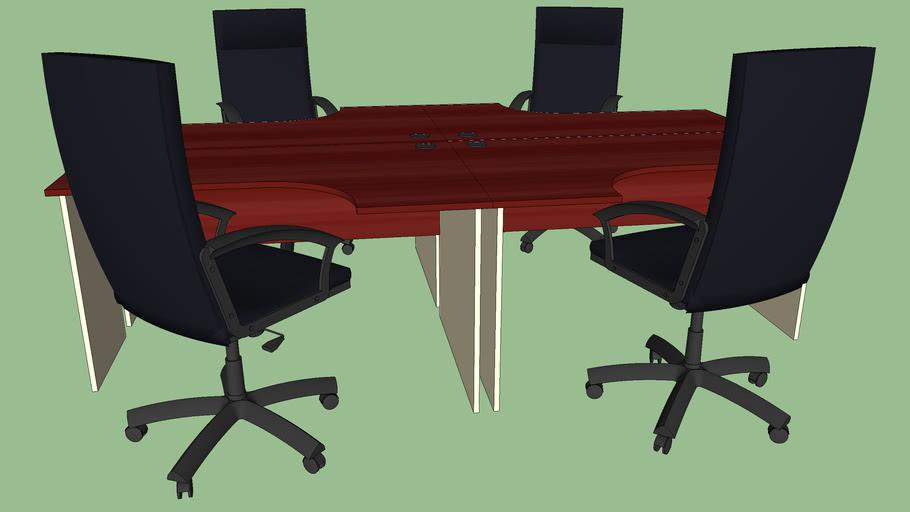 bureau 4 places de travail