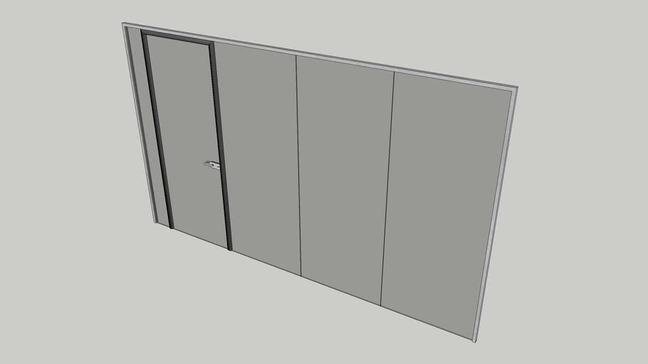Full height glass partitioning system