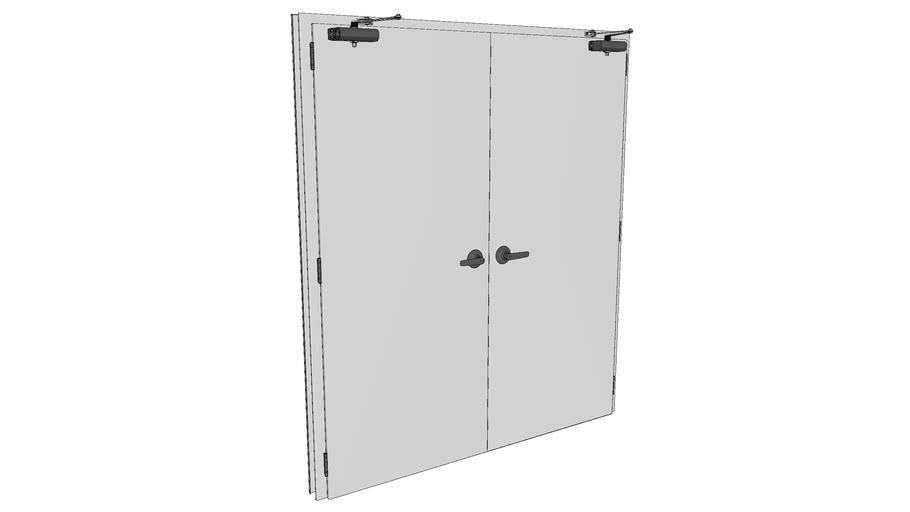 Porta corta fogo dupla - Fire door