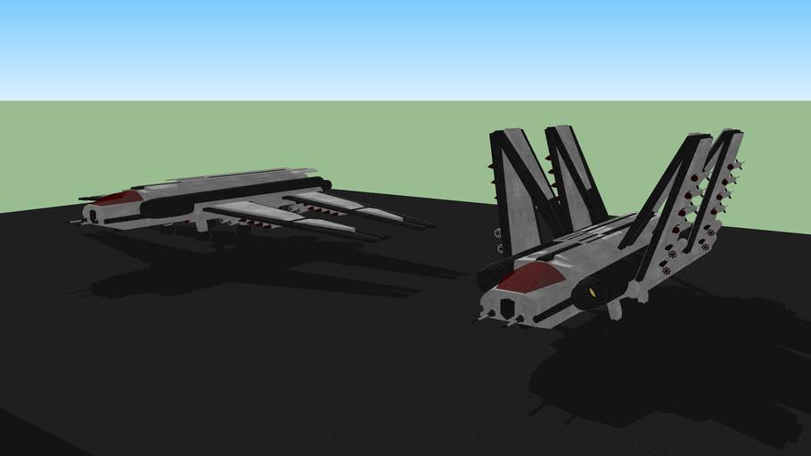 B-35 (Eversor) H-Wing Bomber (OC Design)