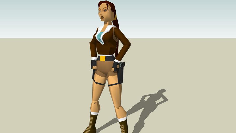 Lara Croft Tomb Raider Ii Bomber Jacket Ps1 3d Warehouse