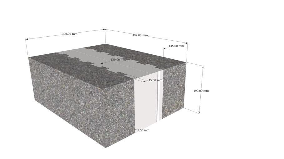 39 cm Leca®term block