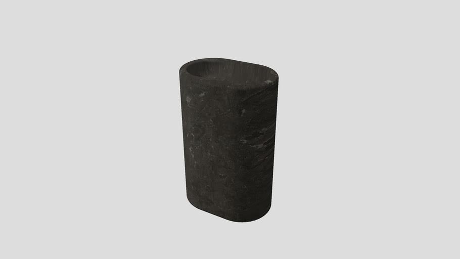 Freestanding basin in Pietra d'Avola limestone | Salvatori | Balnea 60x40xH90cm