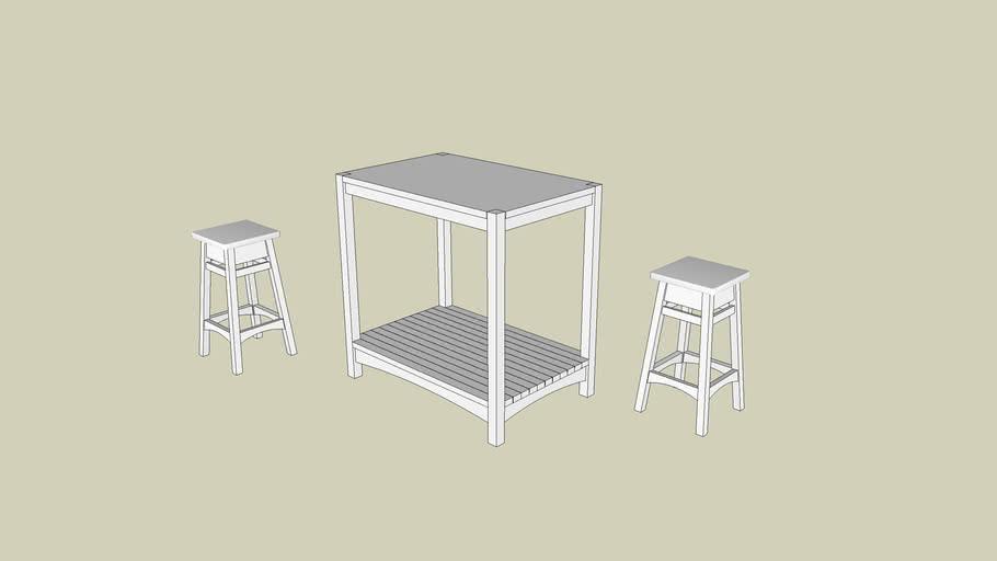 Snackbar and stools