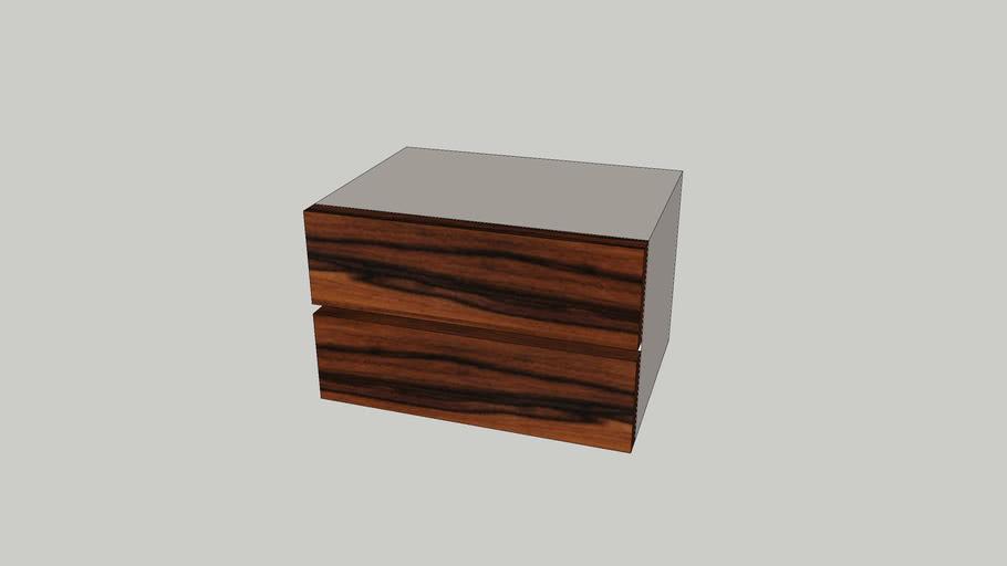 Mesa cabeceira 2 gavetas Nice palissandro lacado perola