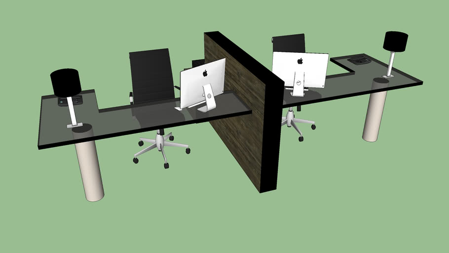 Double Office Desk