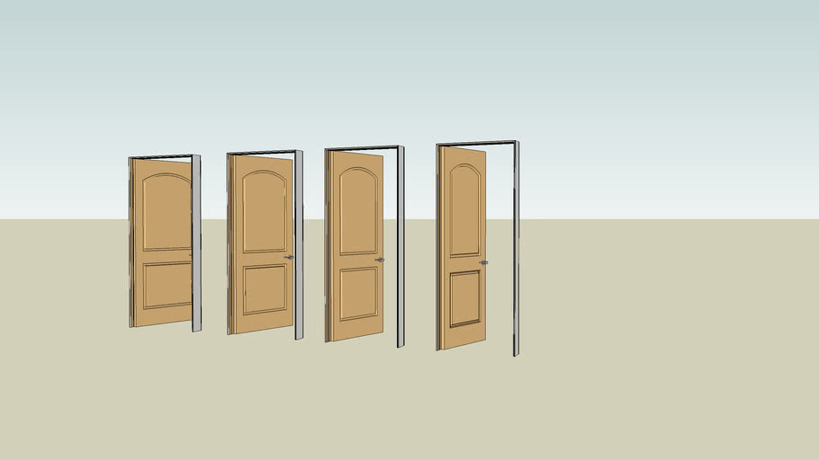 Raised Panel interior door set with frames [high poly count]