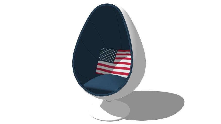 Flag, le fauteuil coquille maisons du mode. Réf. 116.268 Prix: 699,90 €