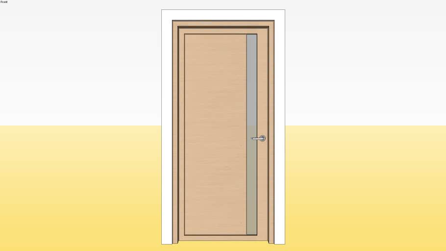 Panel Glass Door D5 900 x 2100 Jamb 5