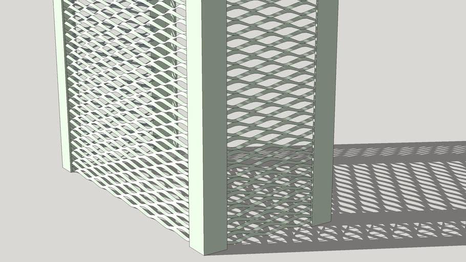 Small rhombus metal wire