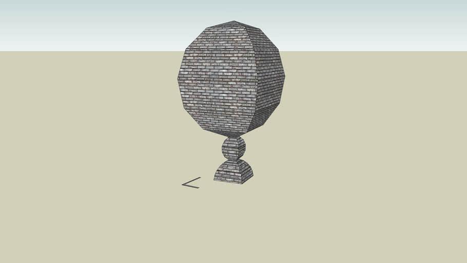 Giant round Brick Statue