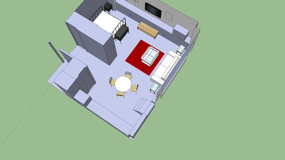 208 box house