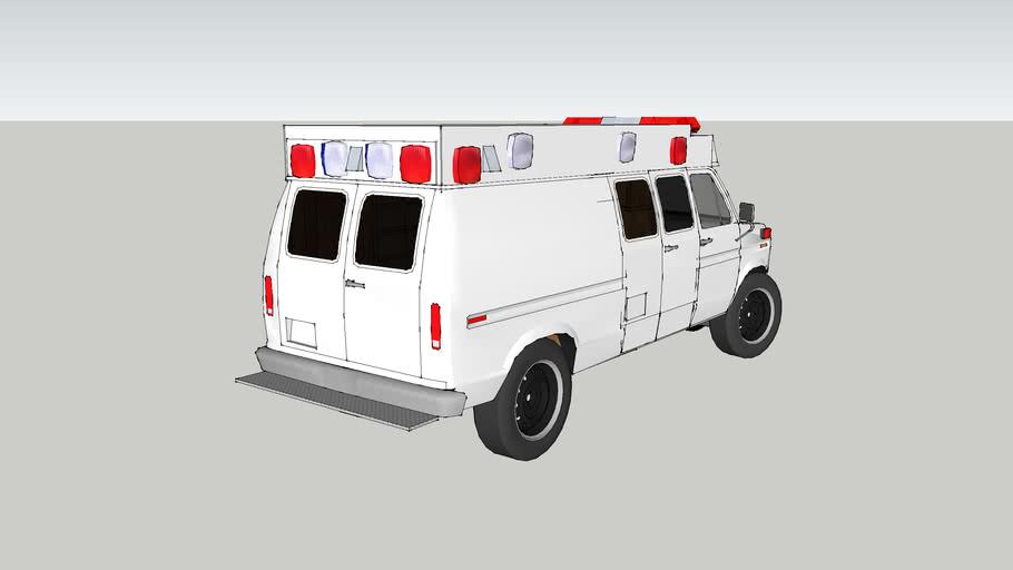 ambulance type ll ford f350 econoline model 1989