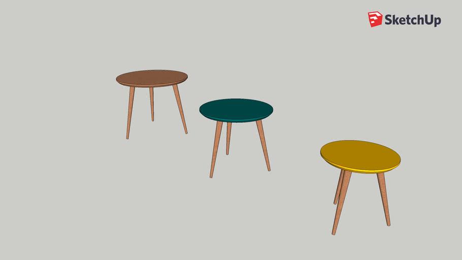 Fjord - Tables gigognes vintage tricolores - Maison du Monde ...