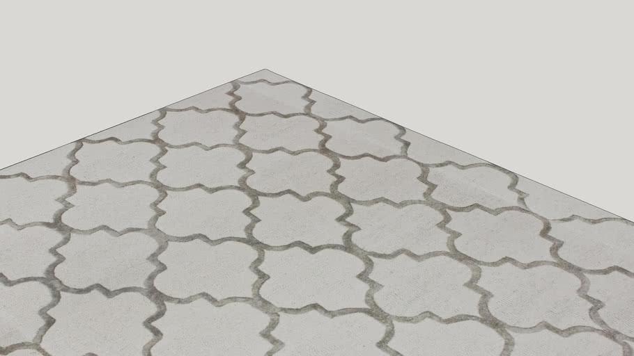 Noirmont Hand-woven Trellis Nickel Geometric Area Rug