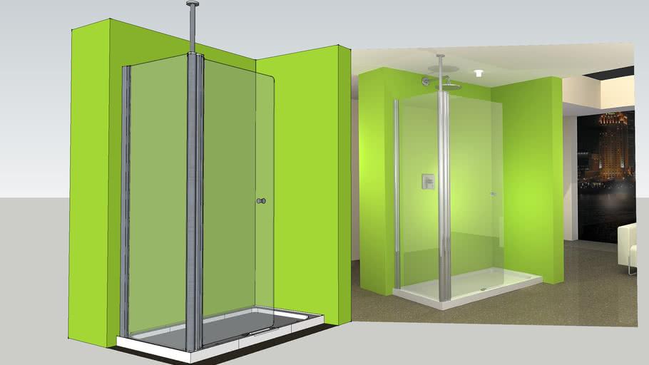 UniLine Open 1500x800 Walk In Shower Enclosure & Tray