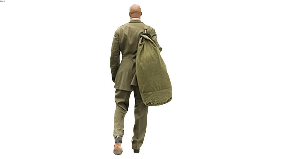 solider walking away