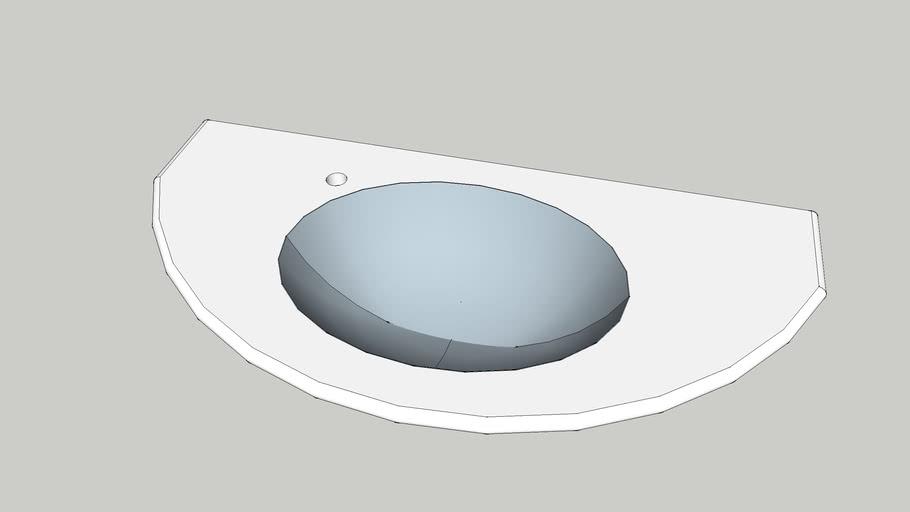 Top in pietra lavica Lucrezia 60x120 foro rubinetto sx