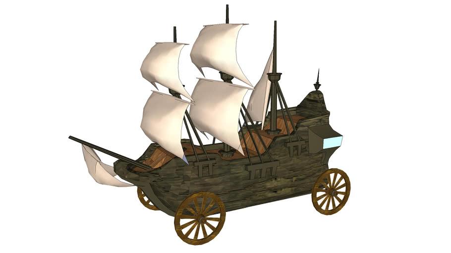 Pirate Ship Soap Box Derby Car