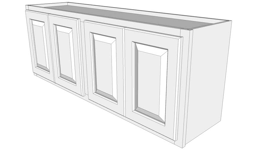 "Briarwood Wall Cabinet W4818 - 12"" Deep, Two Sets Butt Doors"