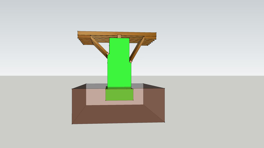 24 - Rezultanta opceg sustava sila prikazana na stupu drvenog mosta.skp