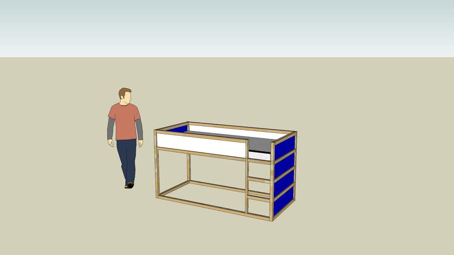 Ikea Kura Reversible Bed 3d Warehouse