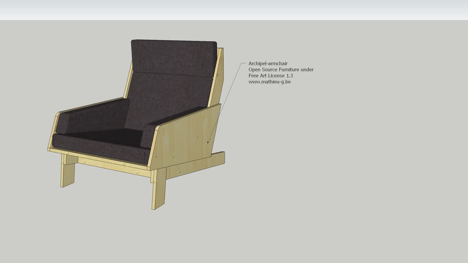 Archipel armchair Open Source