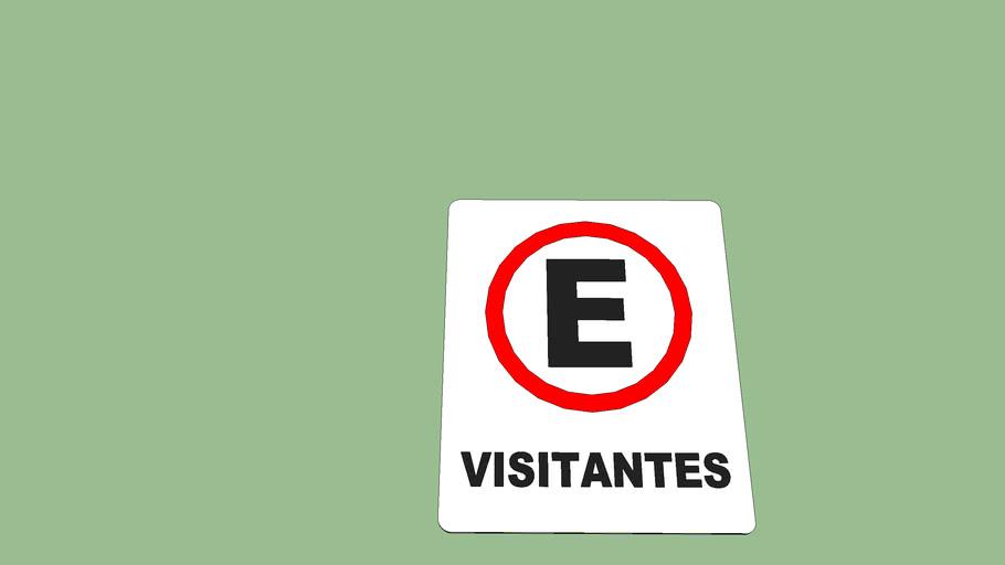 placa visitantes