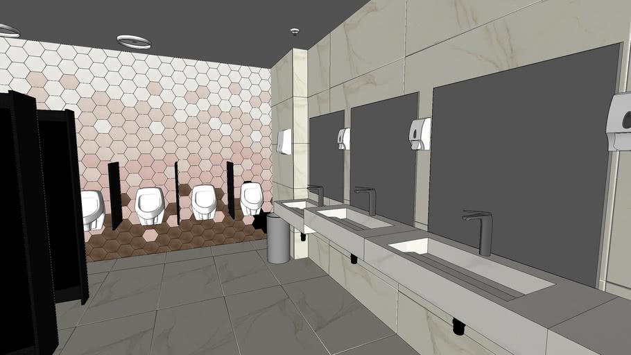 EFT Banheiro masculino acabamento Portinari_Vray