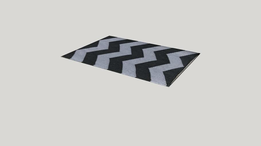 Tapete Índia 02 Chevron cinza e cinza escuro