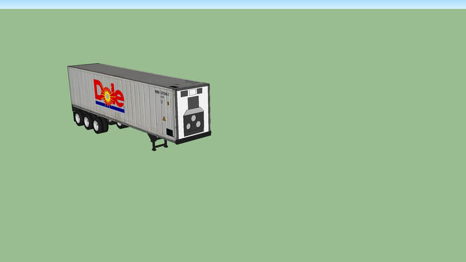 Dole Container on Container Trailer