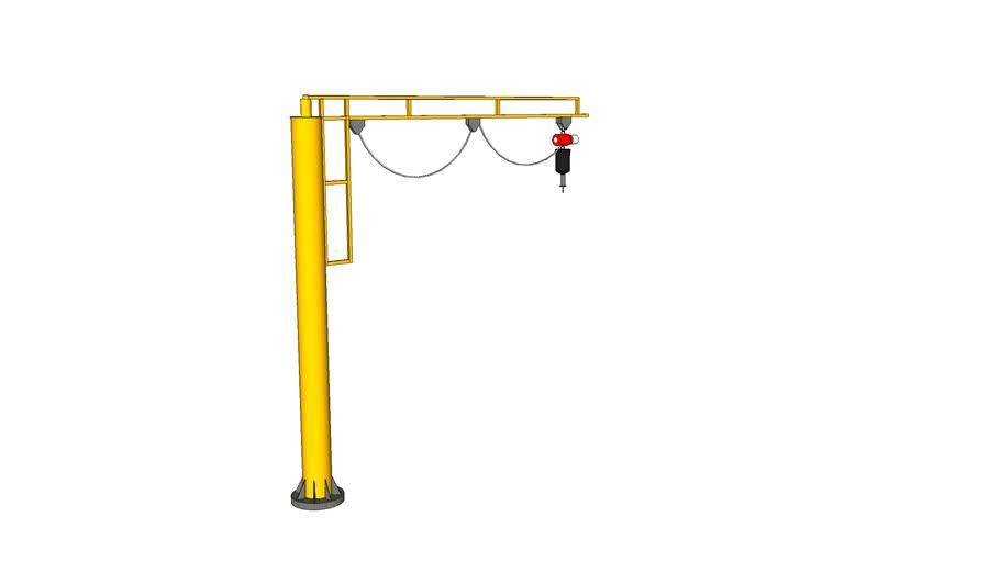 1 - Ton Column Mounted Jib Crane