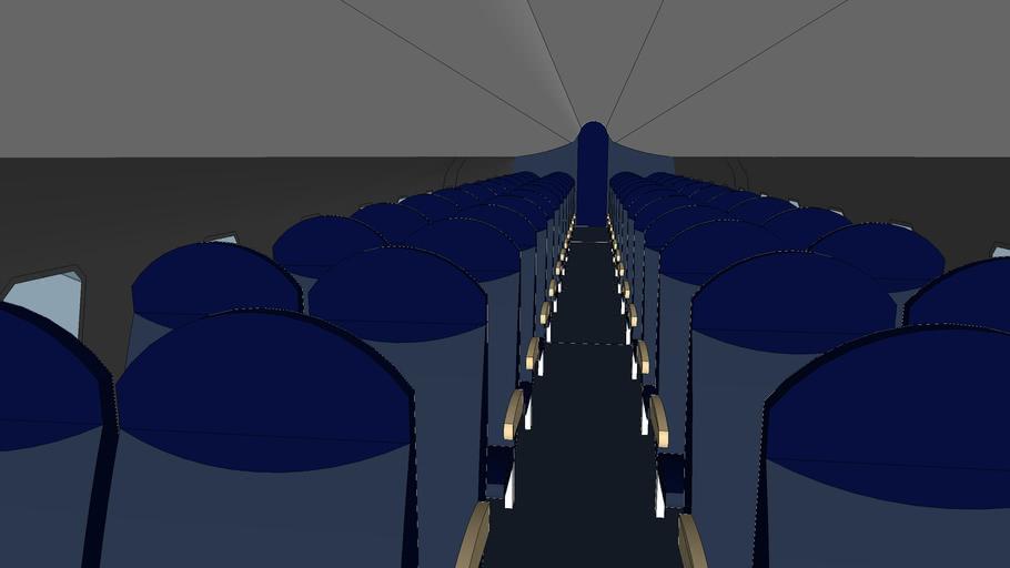Delta CRJ-200 (cabin)