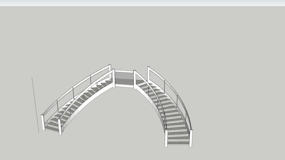 Escalier semi-circulaire