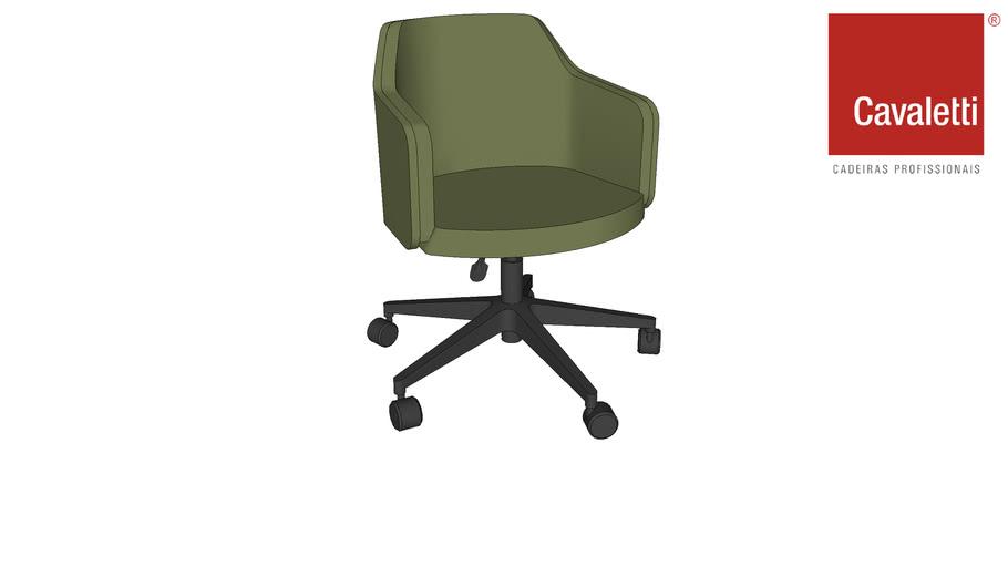 Cadeira Cavaletti Duo Flange Rodizios