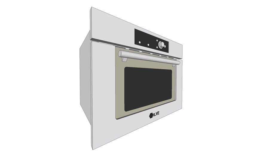 Ilve 645ltkcw Combi Microwave Oven