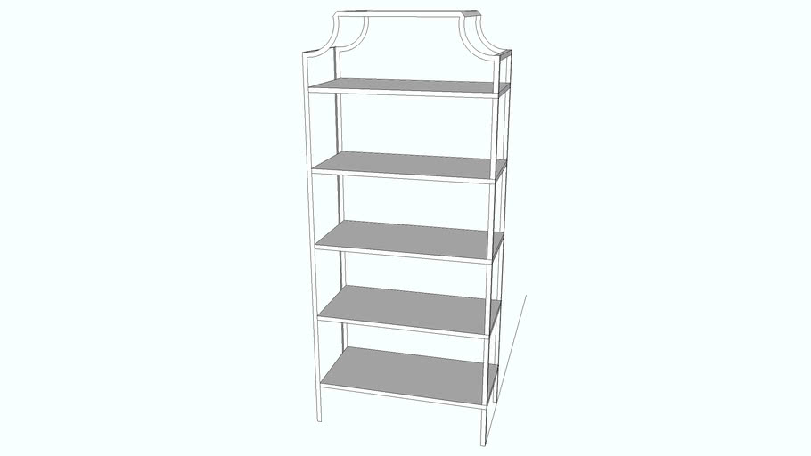 Seana Bookcase Scalloped edges
