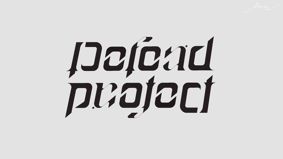 Ambigram - Defend and Protect