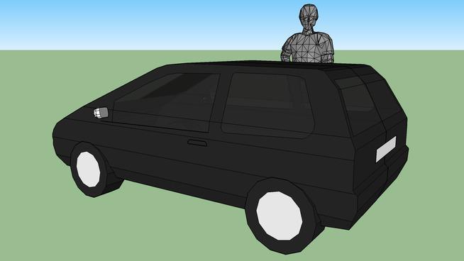 car & person
