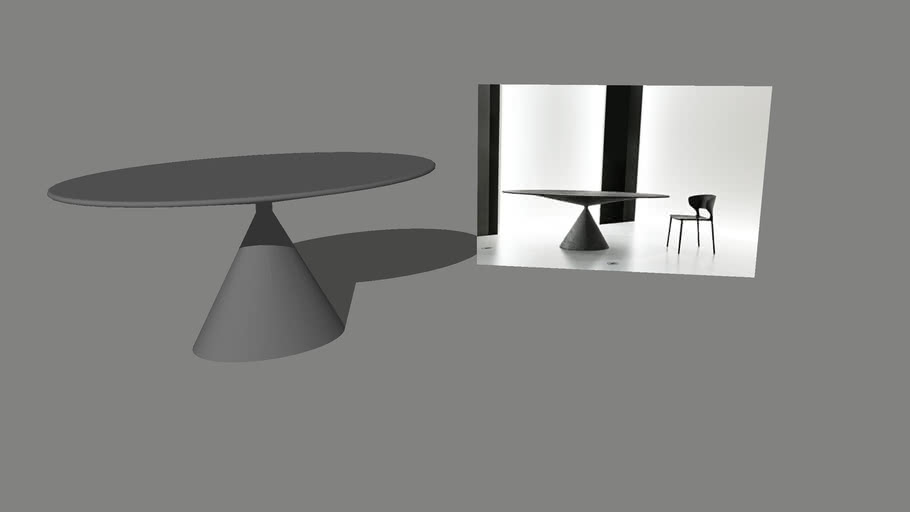 CLAY OVAL Dining / Center Table   3D Warehouse