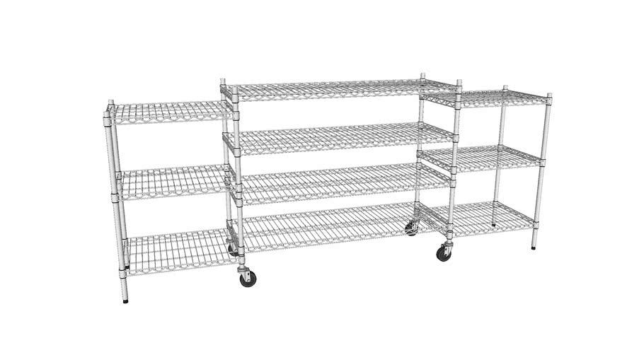 """Wire Shelf TV Stand - 18""""x24"""" (2x) 18""""x48"""" (1x)"""