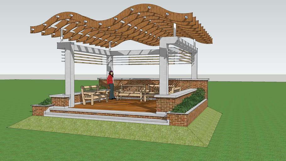 Outdoor Garden Deck 3d Warehouse