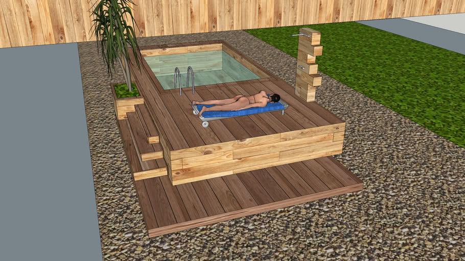 Pool of wooden beam UWB