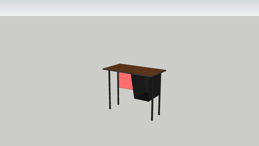 brown school desk