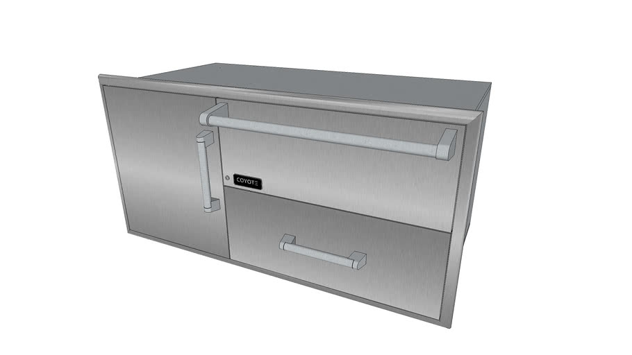 Combination Storage: Warming Drawer & Access Doors ... on Coyote Outdoor Living Inc id=67357