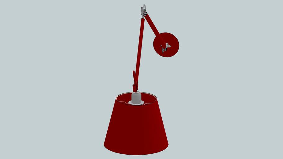 arandela vermelha