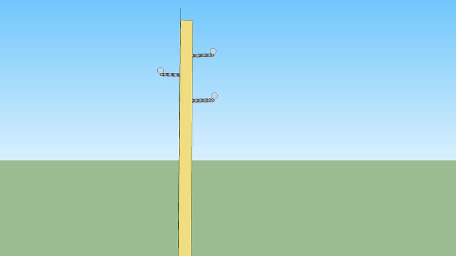 Concrete power pole