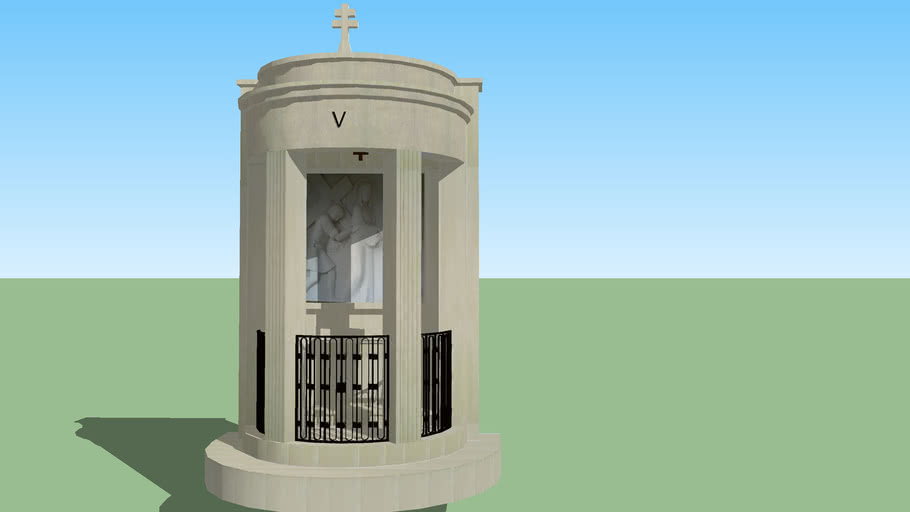 Modelo 3D do Monumento da 5ª Estação da Via Sacra dos Valinhos - Fátima