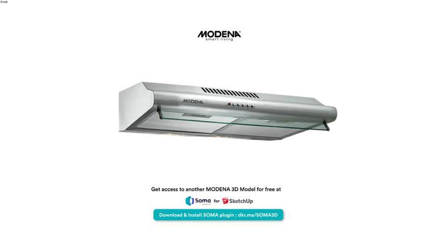 Modena Cooker Hood 60cm FRESCO SX 6501 V - Download 3D Model Modena yang lain: https://dkr.ma/SOMA3D