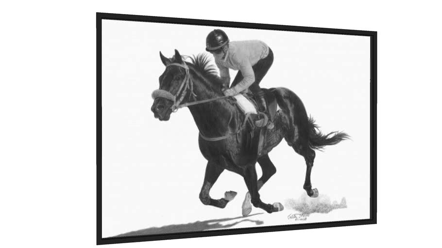 Quadro Cavalo de corrida - Galeria9, por Talita Stein